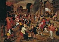The Fires of St. Martin  von Maerten van Cleve