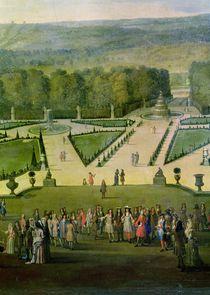 Promenade of Louis XIV by the Parterre du Nord von Etienne Allegrain