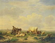 Herdsman and Herd by Eugene Joseph Verboeckhoven