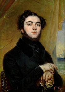 Portrait of Eugene Sue  by Francois Gabriel Guillaume Lepaulle