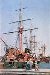 Building of the Battleship 'Admiral Kornilov' in Brittany by Nikolai Nikolaevich Gritsenko