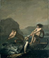 Scenes from 'Niels Klim's Subterranean Journey' by Baron Ludvig Holberg  von Nicolai Abraham Abildgaard