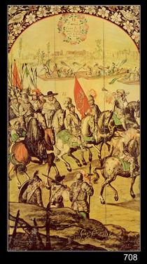 The encounter between Hernando Cortes  von Miguel and Juan Gonzalez