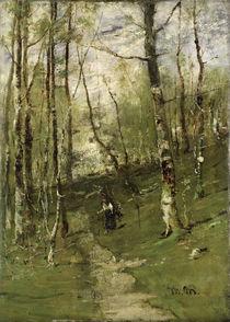 In the Barbizon Woods in 1875  von Mihaly Munkacsy