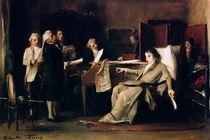 Mozart directing his Requiem on his deathbed  von Mihaly Munkacsy