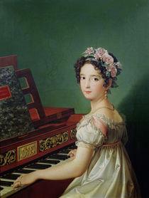 The Artist's Daughter at the Clavichord  von Zacarias Gonzalez Velazquez