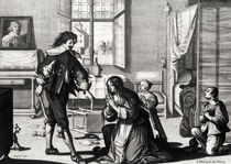 The Husband Who Beats His Wife by Abraham Bosse