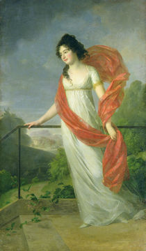 Portrait of Countess Theresia Fries  von Johann Friedrich August Tischbein