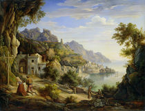 At the Gulf of Salerno by Joachim Faber