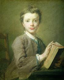 A Boy with a Book von Jean-Baptiste Perroneau