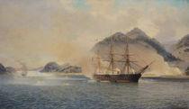 Naval Battle of the Strait of Shimonoseki von Jean Baptiste Henri Durand-Brager