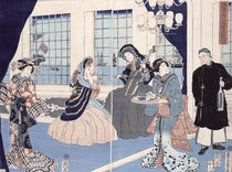 The salon of a house of foreign merchants at Yokohama von Utagawa Sadahide