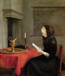 Woman Reading by Gerard Terborch