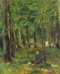 Young Farmer sitting in the Forest by Thomas Ludwig Herbst