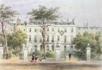 West front of Sir Robert Peel's House in Privy Garden  by Thomas Hosmer Shepherd