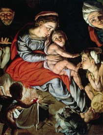 The Holy Family around a Fire von Jan Cornelisz Vermeyen