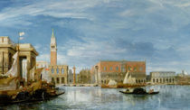 View of the Molo and the Palazzo Ducale in Venice  von James Holland