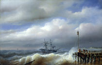 Rough Sea in Stormy Weather von Paul Jean Clays