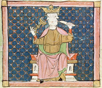Fol.57v January: Janus  by Master Ermengaut
