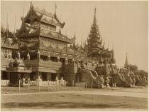 The Hman Kyaung or the glass monastery by Felice Beato