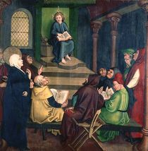 Jesus with the Doctors by Martin Schongauer