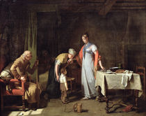 Young Woman Helping an Unfortunate Family  von Martin Drolling