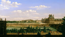 View of the Gardens and Palace of the Tuileries from the Quai d'Orsay by Etienne Bouhot