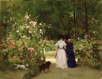 Promenade  by Constant-Emile Troyon