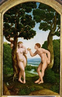 Adam and Eve in Paradise  by Jan van Scorel