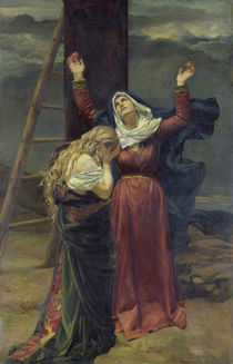 The Virgin at the Foot of the Cross  von Jean Joseph Weerts