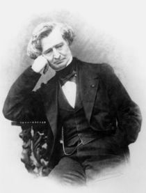 Portrait of Hector Berlioz  von Pierre Petit