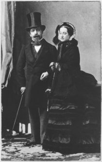 Emperor Napoleon III and Empress Eugenie by Andre Adolphe Eugene Disderi