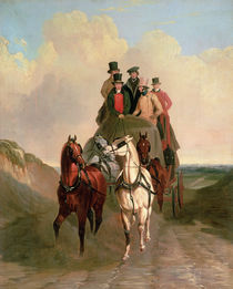 A Coach and Four on an Open Road  von William Snr. Shayer