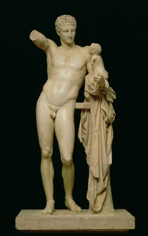 Statue of Hermes and the Infant Dionysus by Praxiteles