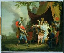 Achilles has a dispute with Agamemnon von Johann Heinrich Tischbein