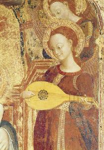 Virgin and Child Enthroned with six angels von Sassetta