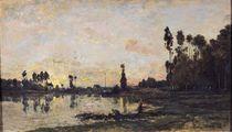 Sunset on the Oise by Charles Francois Daubigny
