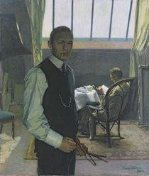 Self Portrait in the Studio by Franz Nolken