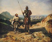 Don Quixote and Sancho  by Alexandre Gabriel Decamps