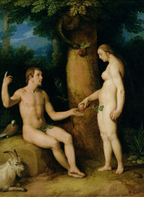 Adam and Eve by Cornelis Cornelisz. van Haarlem