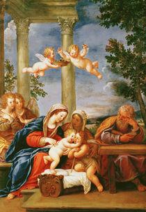 The Holy Family with St. Elizabeth and St. John the Baptist von Francesco Albani