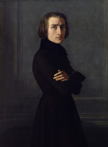 Portrait of Franz Liszt  by Henri Lehmann
