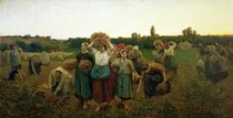 Calling in the Gleaners by Jules Breton