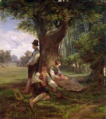 Peasants having a Siesta by Hermann Kauffmann