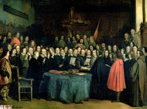 The Swearing of the Oath of Ratification of the Treaty of Munster by Claude Jacquand