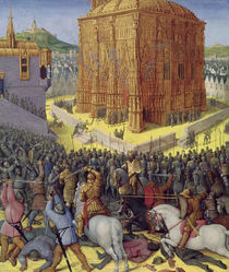 Ms Fr 247 fol.213 The Siege of Jerusalem by Nebuchadnezzar von Fouquet, Jean (c.1420-80) and Studio