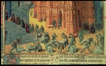 Fr 847 f.153 The Building of the Temple of Jerusalem by Fouquet, Jean (c.1420-80) and Studio