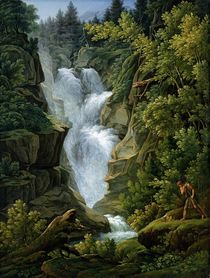 Waterfall in the Bern Highlands by Joseph Anton Koch