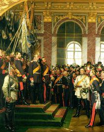 The Proclamation of Wilhelm as Kaiser of the new German Reich von Anton Alexander von Werner