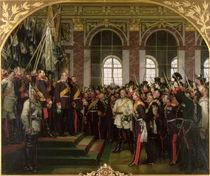 The Proclamation of Wilhelm as Kaiser of the new German Reich by Anton Alexander von Werner